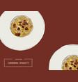 hand drawn carbonara spaghetti vector image vector image