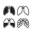 Human Lung Icons Set vector image vector image
