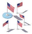 isometric united states flag vector image