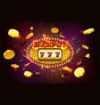 jackpot lucky wins golden slot machine casino vector image vector image