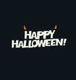 logotype design horns added abstract halloween vector image vector image