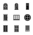 modern window icon set simple style vector image vector image
