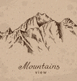 mountain peak vector image vector image
