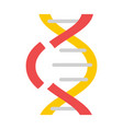 noninteger dna icon flat style vector image vector image