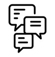 office manager chat icon outline style vector image vector image