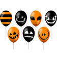 orange and black balloons vector image