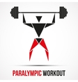 Paralympic Workout powerlifting logo with triangle vector image