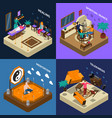 paranormal abilities and meditation isometric vector image vector image