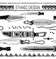 Pattern with Native American knifes Tribal vector image