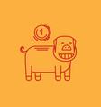 piggy bank linear icon vector image