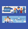 pilot flight crew stewardess and people vector image