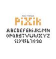 pixel font alphabet retro letters alphabet with vector image