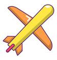 plane icon cartoon style vector image vector image