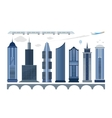 set city icons vector image vector image