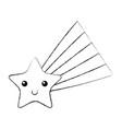 shooting star kawaii character vector image vector image