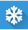 Simple snowflake icon in flat style vector image