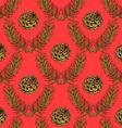 Sketch pine branch and cones vector image