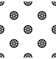 sprocket from bike pattern seamless black vector image vector image