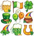 St patrick day icons vector | Price: 3 Credits (USD $3)