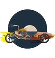Start up concept steampunk racing car vector image vector image