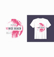 venice beach t-shirt and apparel trendy design vector image