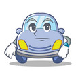 waiting cute car character cartoon vector image vector image