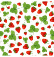 watercolor seamless pattern with strawberries and vector image vector image