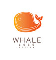 whale logo design emblem can be used for travel vector image vector image