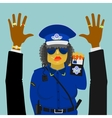Woman police officer on the job vector image