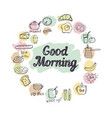breakfast background vector image