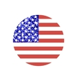 round american flag vector image