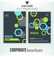 Brochure cover design template Geometric abstract vector image