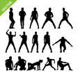 Men dancer silhouettes vector image