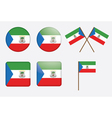 badges with flag of Equatorial Guinea vector image
