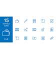 15 file icons vector image vector image