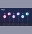 6 steps infographic design timeline chart vector image vector image