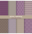 8 Seamless Patterns - Royal Vintage Set vector image