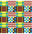 african kente cloth style seamless textile vector image vector image
