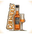 alcohol drink calvados vector image vector image