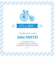 Baby announcement card it s boy vector | Price: 1 Credit (USD $1)