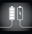 battery black charging levels vector image vector image