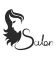 beauty salon symbol vector image vector image