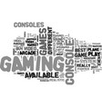 best video game system text word cloud concept vector image vector image