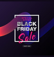 black friday banner shopping discount promotion vector image vector image