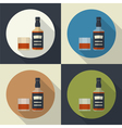 bottle and glass icon vector image