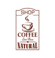 cafe icon of cofee shop cup steam vector image vector image