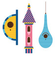 Cartoon bird house icon