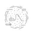 Cleaning of carpets vector image vector image