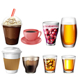 Coffee and cocktail drinks vector image