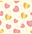 colored background with blurred hearts and stars vector image vector image